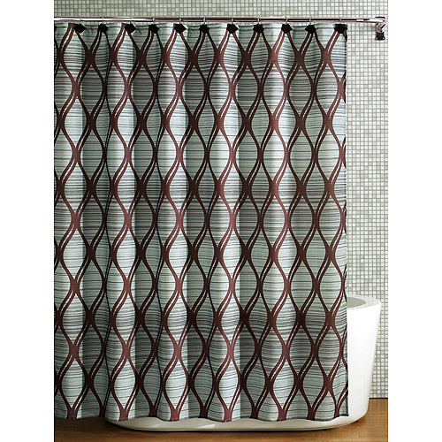 mainstays lynden fabric shower curtain