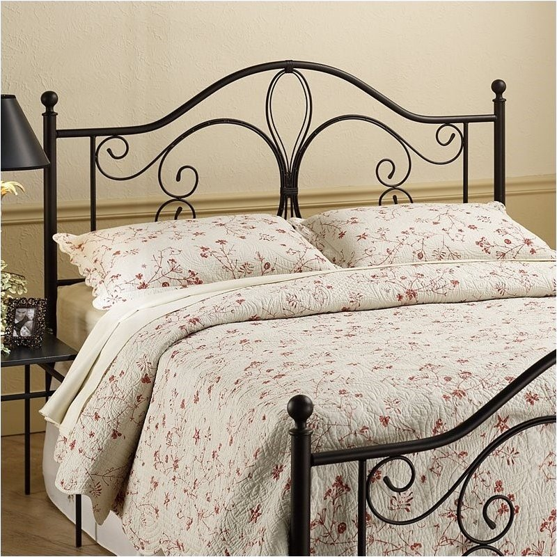 Hawthorne Collections Twin Metal Headboard in Brown