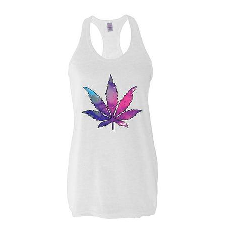 Artix Marijuana Leaf Galaxy Cannabis 420 Fashion Weed Pot People Women Racerback Tank Clothes