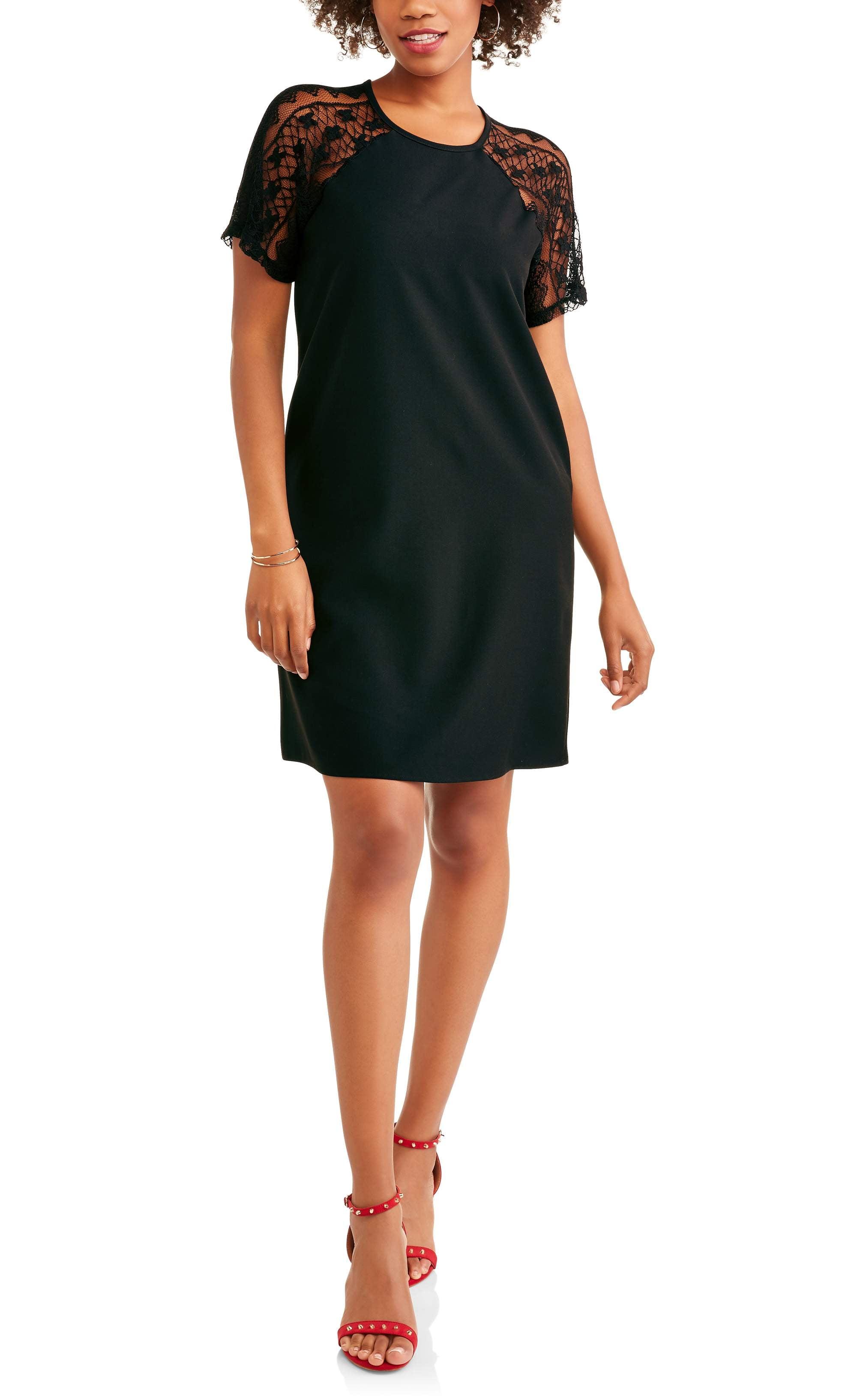 Shira Pearla Women's Lace Shoulder Shift Dress