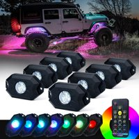 Xprite 8PC Victory Series Remote Control RGB LED Rock Lights