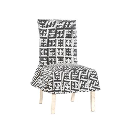 Classic Slipcovers Roman Key Short Pleated Dining Chair Slipcover