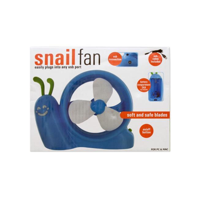 Bulk Buys OD411-8 Battery Operated Snail Usb Fan by Bulk Buys