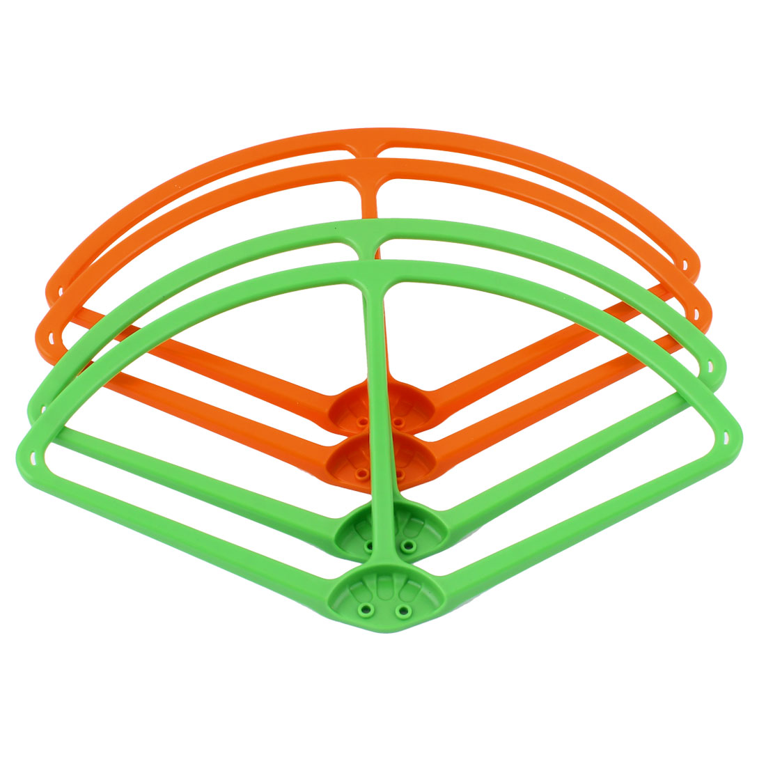 "9"" Propeller Blade Guard Bumper Set Orange Green for DJI Phantom 2 Vision"