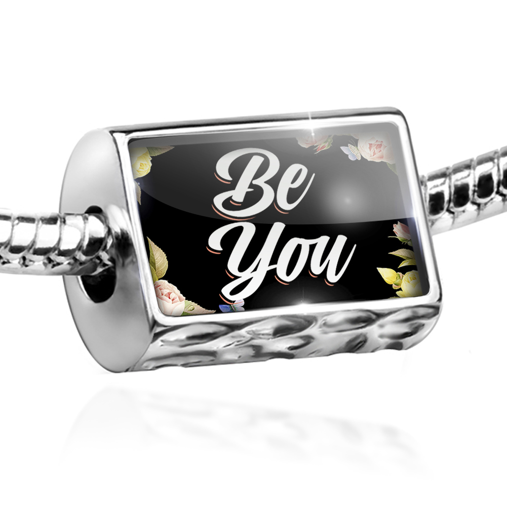 Bead Floral Border Be You Charm Fits All European Bracelets