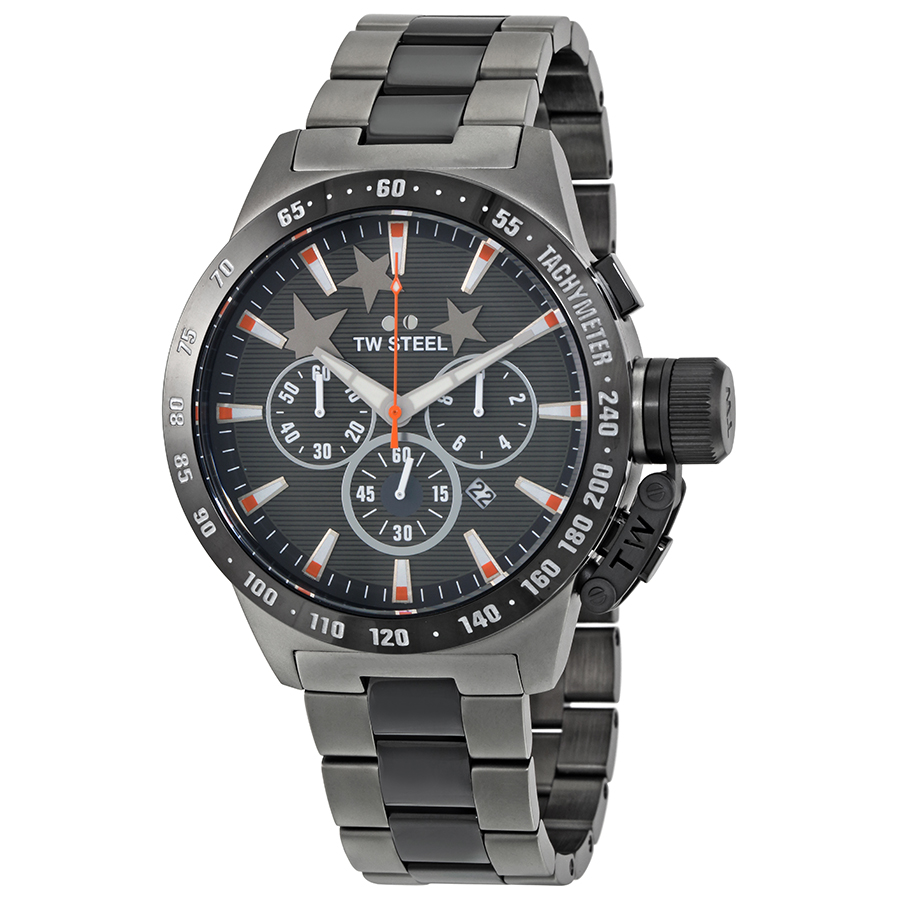 TW Steel Canteen Dark Grey Dial Mens Chronograph Watch TW314