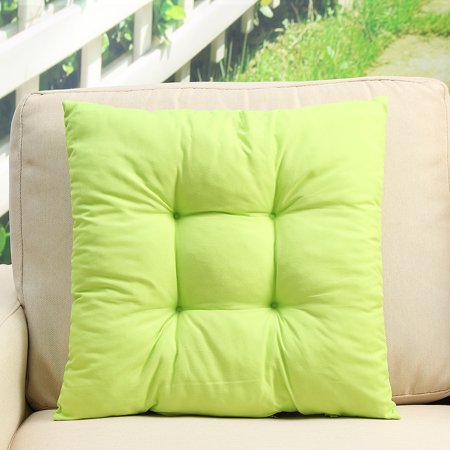 Non-Slip 15.8''*15.8'' Soft Square Cotton Chair Pads Seat Cushions Pillows Multi-Colors Buttocks Sit Tatami Mats with Sling For Garden Patio Home Kitchen Office Decor