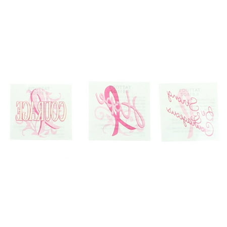 72 Pink Ribbon Breast Cancer Awareness Inspirational Tattoos 39/2064 for $<!---->