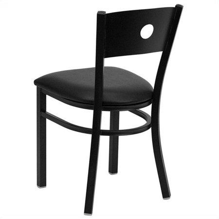Flash Furniture Hercules Circle Back Metal Dining Chair in Black - image 1 de 2