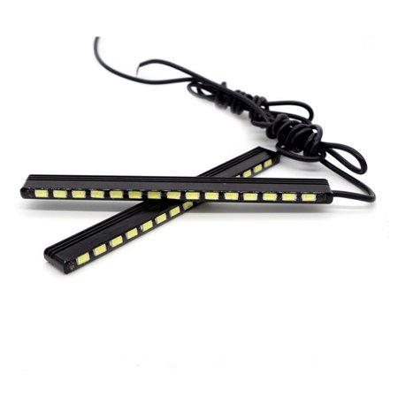 AutoEC DRL Daytime Running Light 138mm 15smd 5730 Car LED Styling Lamp Bar Strip