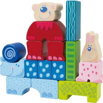 HABA Zoolino Maxi Colorful Wooden Building Blocks (Made i...
