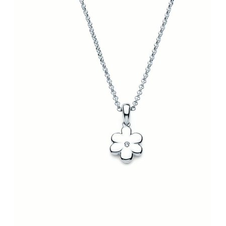 Little diva diamonds 925 sterling silver flower pendant necklace little diva diamonds 925 sterling silver flower pendant necklace with chain aloadofball Choice Image