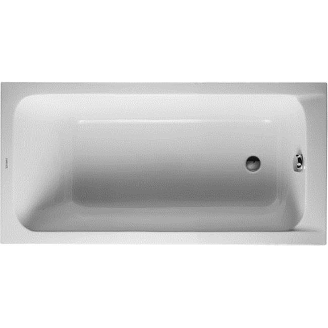 Duravit 700095000000090 D Code Drop In Acrylic Soaking Bathtub With One Backrest Slope Walmart Com Walmart Com