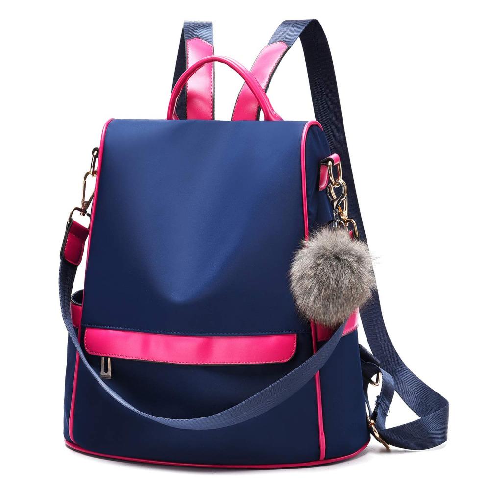 Women Backpack Purse Nylon Anti-theft Fashion Casual Lightweight Travel Schoo...
