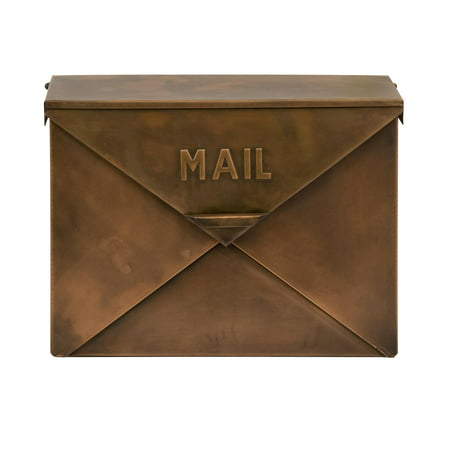 Tauba Copper Finish Mailbox - Mount Copper Mailbox