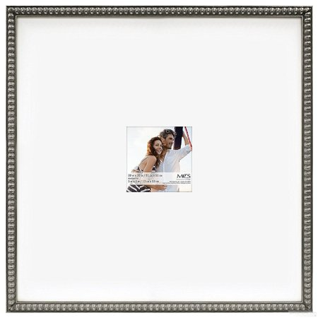 THIN BEAD Wood Pewter frame 20x20 5x5 by MCS