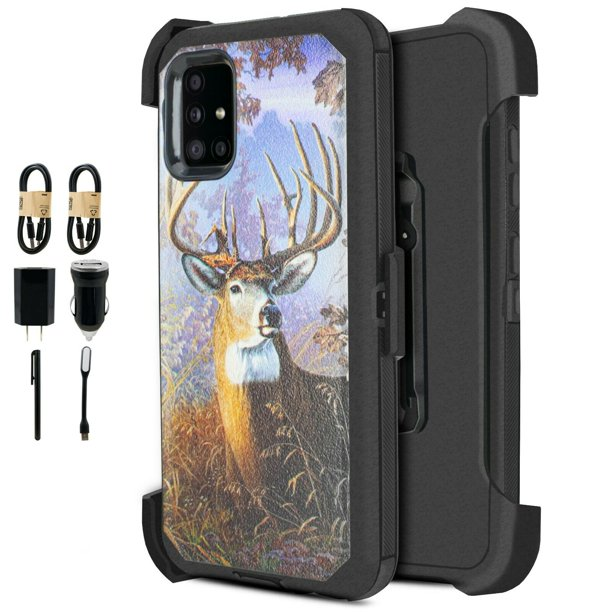 Value Pack ! for Samsung Galaxy A51 4G (NOT FOR SAMSUNG A51 5G) case Phone Case 360° Cover
