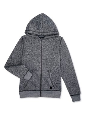 Swiss Cross Boys Melange Fleece Zip-Up Hoodie Sizes 8-18