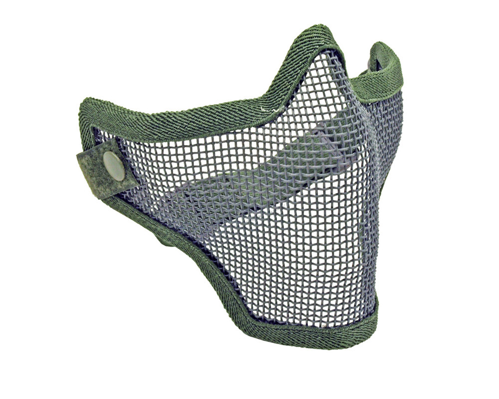 1G Strike Steel Half Airsoft Mask OD Green by