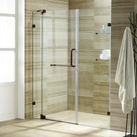 Product Image Vigo Pirouette 48 Frameless Shower Door 3 8 Clear Gl Oil