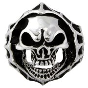 Sterling Silver Blood Hungry Skull Ring 15