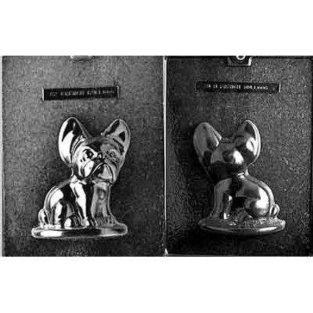 Plaster Of Paris Molds - 2-Piece French Bulldog Chocolate Candy Mold SetUses: Chocolate, soap, plaster By CybrTrayd