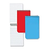 Rediform 31-120 National Wirebound Memo Notebook 60 SHeet[s] Legal narrow Ruled 3 X 5 1 Each White by