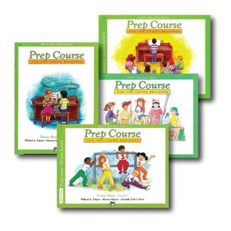 Alfred Basic Piano Prep Course Level C - Four Book Set - Lesson, Theory, Technic and Notespeller Books (Course Notespeller Book)