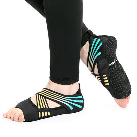 Yoga Sock Women Half Toe Grip Non-slip for Yoga Pilates Training Shoes