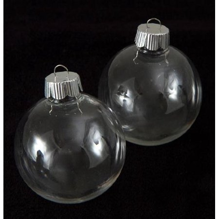 Creative Hobbies Round Clear Plastic Ball Ornaments, 83mm, Pack of 12 ()
