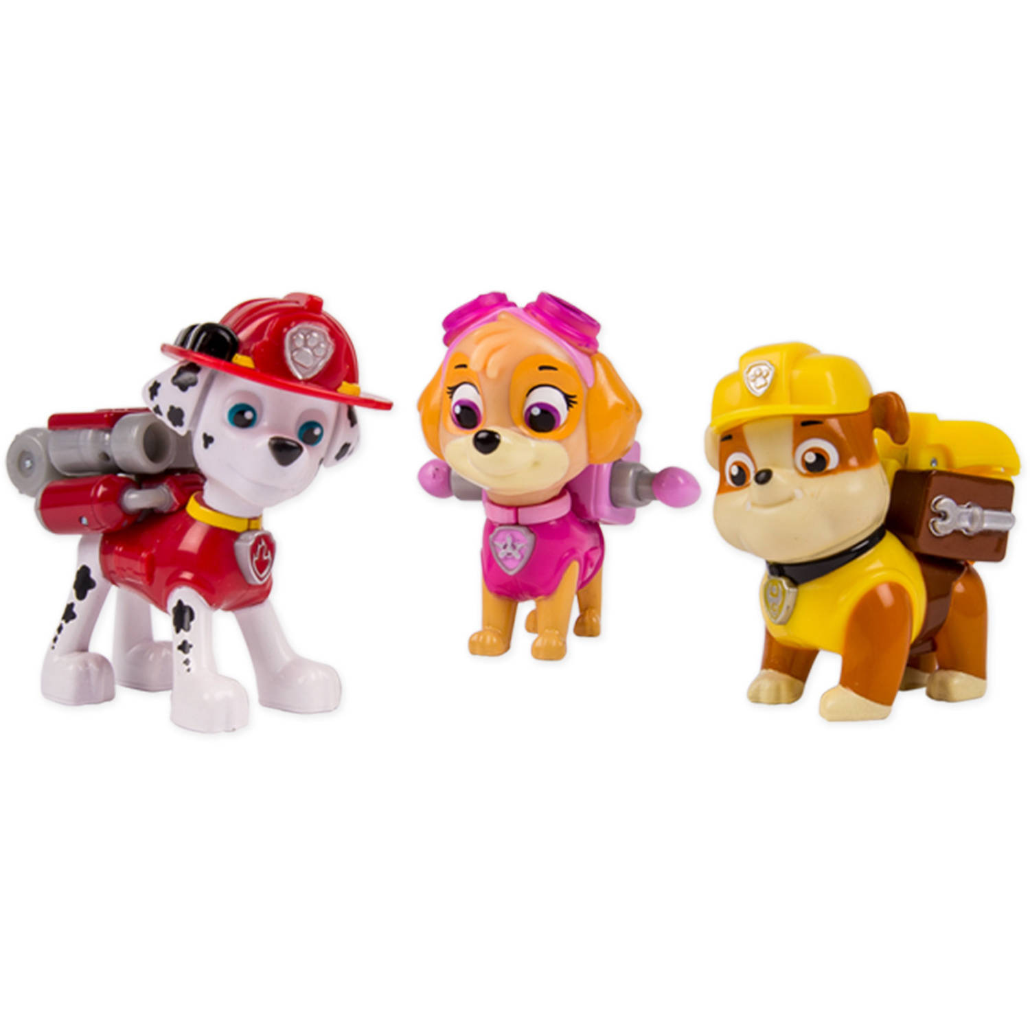 Nickelodeon Paw Patrol - Action Pack Pups 3pk Figure Set Marshal, Skye, Rubble
