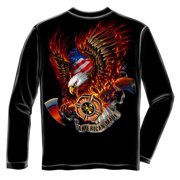 American Made Fire Rescue Long Sleeve T-shirt by , Black
