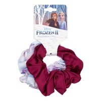 Disney Frozen 2 Satin White & Pink Scrunchies, 2 pack