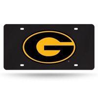 Grambling State Tigers NCAA Black Mirrored Laser Cut License Plate Laser Tag