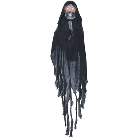 Hanging Lightup Black Ghost Halloween - Chicken Wire Halloween Ghost