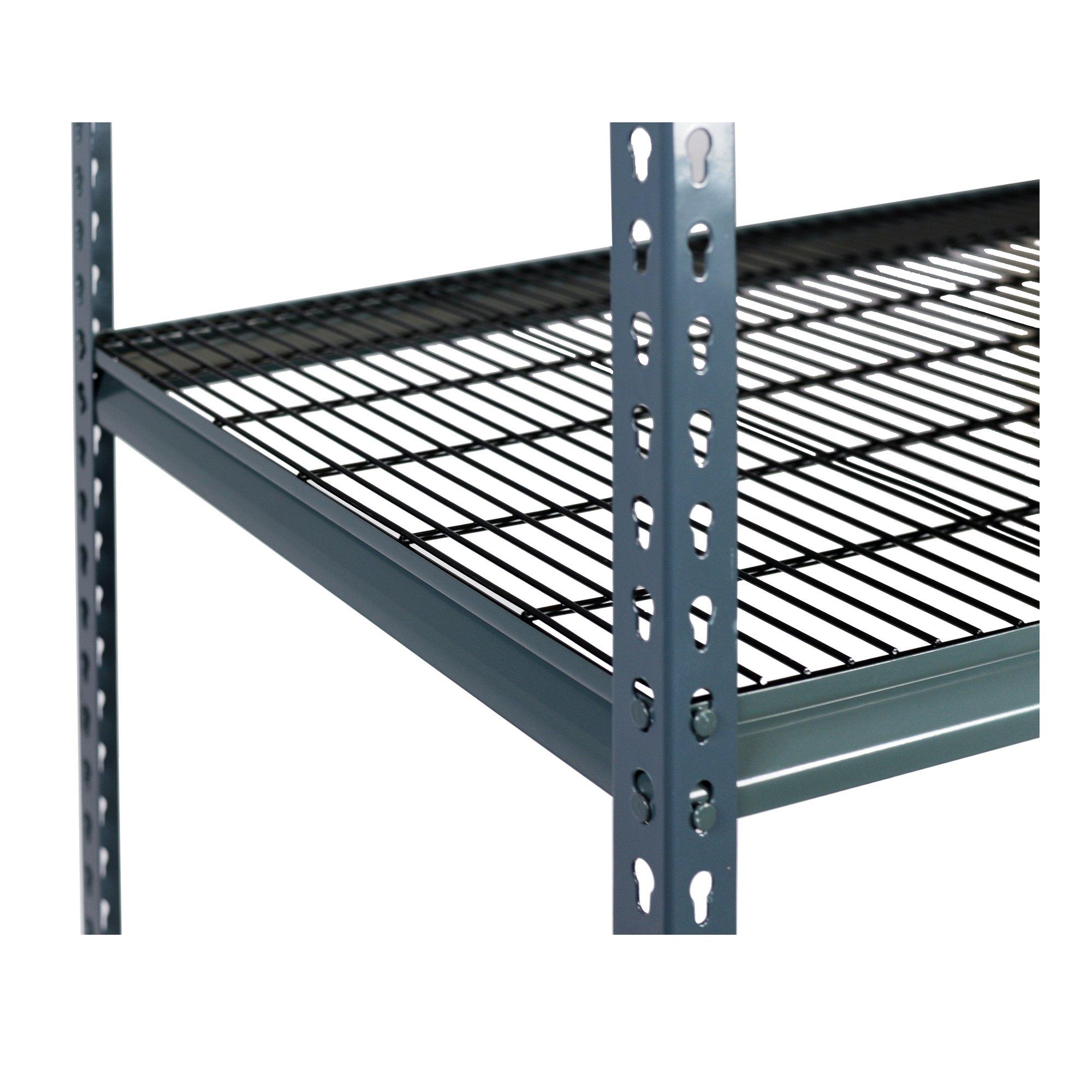 Storage Max Extra Shelf Garage Shelving Boltless, 48 x 18, Double Rivet Z-Beams, Wire Mesh