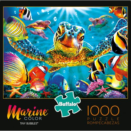 Buffalo Games Marine Color Tiny Bubbles 1000 Piece Jigsaw Puzzle