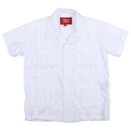 Boys White Suits On Sale (9 Crowns Essentials Boys' Guayabera Button Down)