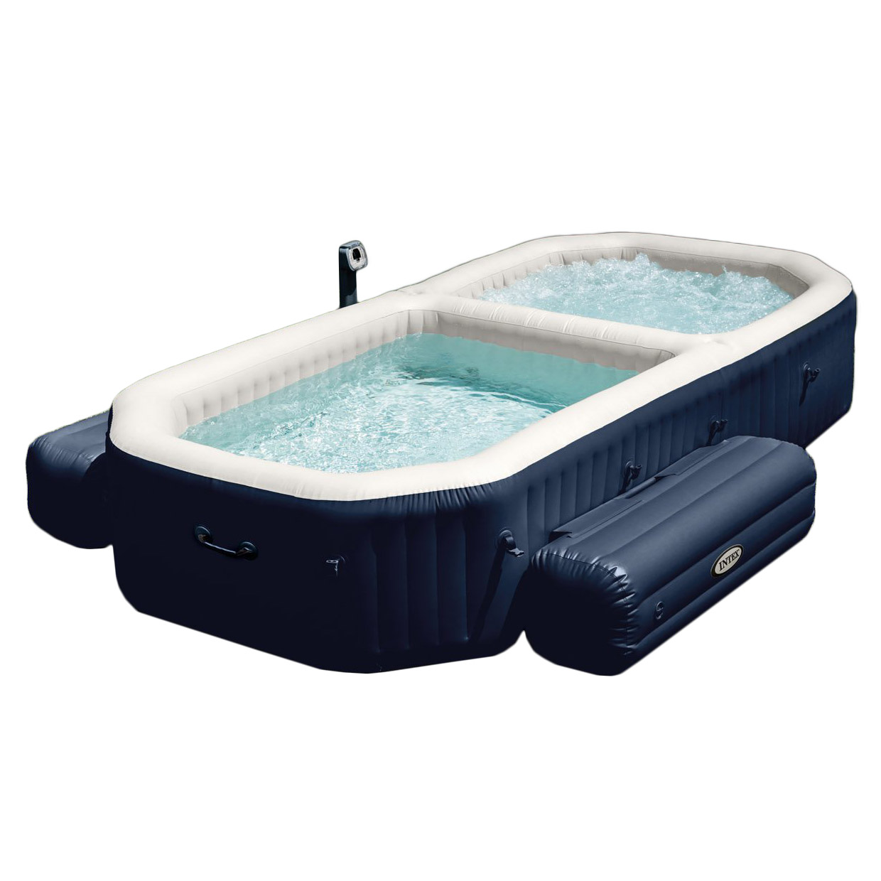 Intex PureSpa 4 Person Inflatable All in One Bubble Massage Hot Tub and Pool