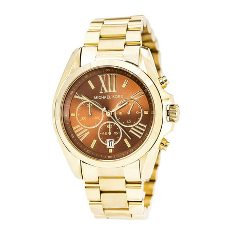 MK5502 Unisex Bradshaw Brown Dial Yellow Gold Steel Bracelet Chronograph - Chronograph Steel Watch