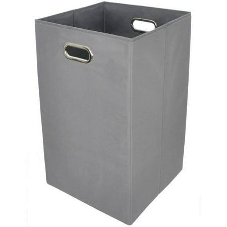 modern littles solid grey folding laundry basket. Black Bedroom Furniture Sets. Home Design Ideas