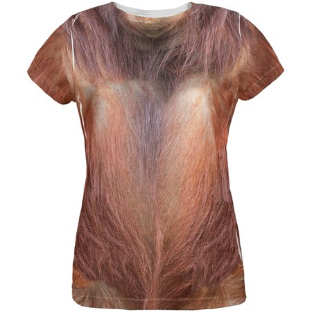 Halloween Orangutan Costume All Over Womens T Shirt (Ladies Halloween Costumes 30 And Over)