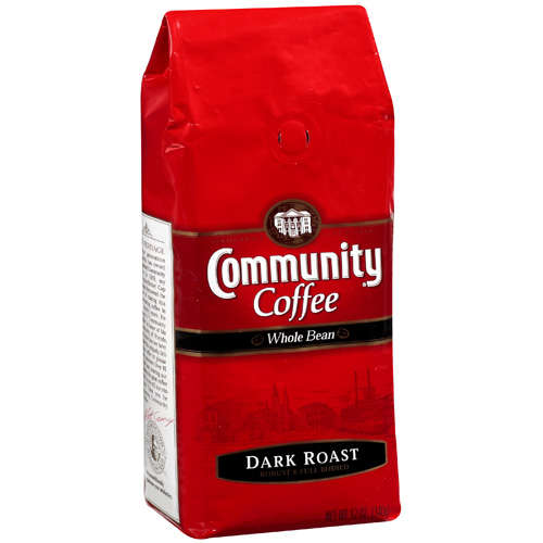 Community Coffee: Dark Roast Robust & Full Bodied Whole Bean Coffee, 12 Oz