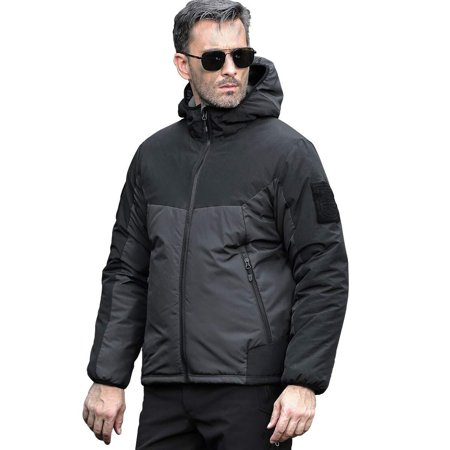FREE SOLDIER Menâ??s Tactical Jacket Breathable Winter Coat Lightweight Warm Keeping Puffer Water Resistant Jacket Gray