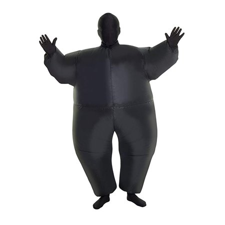 MorphCostumes Black MegaMorph Kids Inflatable Blow up Costume - One Size