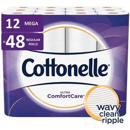 Cottonelle Ultra ComfortCare Toilet Paper, 12 Mega Rolls (=48 Regular - Halloween Themed Toilet Paper