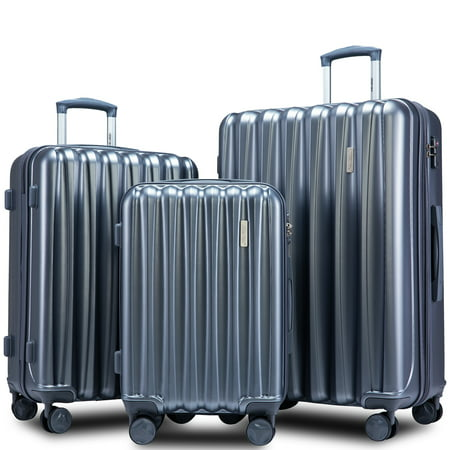 """Clearance! 3 Piece Carry on Luggage Sets, SEGMART Lightweight Carryon Suitcase with TSA Lock, Spinner Luggage Set: 20""""/ 24''/ 28"""" Carry-On Checked Suitcase, Heavyweight Suitcase for Traveling, S7678"""