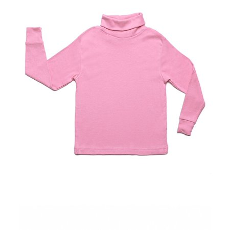 Leveret Solid Turtleneck 100% Cotton (8 Years, Light Pink) ()