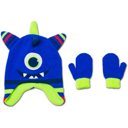 Healthtex Baby Toddler Boy Novelty Critter Hat and Mitten Accessory Set