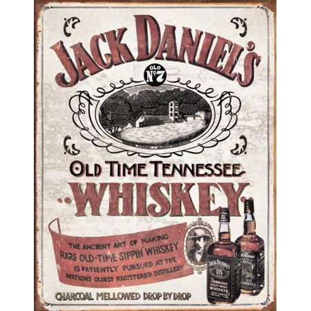 Jack Daniels - Sippin Whiskey Tin Sign - 12x16
